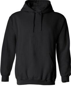 Black Hoodie / Sweatshirt with Front Pocket - Adult Sizes