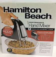 Hamilton Beach 62620 6 Speed Hand Mixer with Snap-On Case Black