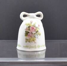 Vintage Ceramic Porcelain Bell Designer Collection Mother's Remembrance 1980