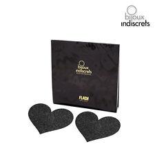 Accessoires Cache-Seins Flash Coeur Noir Taille Unique - BIJOUX INDISCRETS