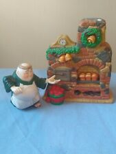Department 56 Merry Makers Otto the Ovenman and his Oven 2 Pc set monk *Retired*