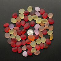sea beach glass 20 big pcs red pink yellow orange lots bulk 16-20mm jewelry use