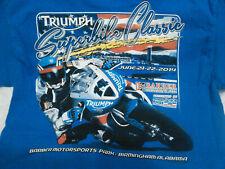 Kids TRIUMPH Superbike Classic Blue  HANES T shirt size S/C/P Kids
