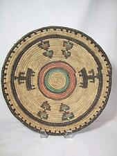 Colorful African Coiled Basket from Nigeria Folk Art Primitives