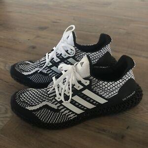 NEW Men's Adidas Ultra 4D G58158 Tennis Shoes Black/White Size 12.5