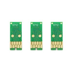 3Pcs T6712 Maintenance Tank Chip For Epson WorkForce Pro WF-6090 WF-6590 WF-809