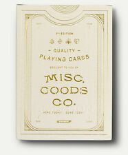 Misc. Goods Co. Ivory Playing Cards New Deck