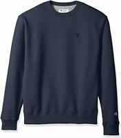 Champion Men's Powerblend Fleece Pullover Sweatshirt, Navy Heather, X Large