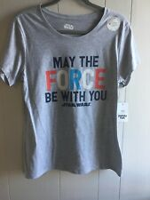 Women's Disney Gray Short Sleeve Star Wars Graphic Tee NWT Size Small