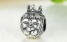 New European Silver CZ Charm Beads Fit sterling 925 Necklace Bracelet Chain S8x
