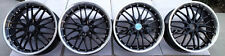 "20"" MRR Wheels For Infiniti G35 G37 M37 M35 M45 Black / Polished Lip Rims Set"