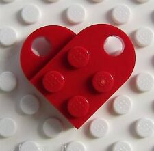 LEGO BRIGHT RED HEART  Valentine's Day Wedding Love Charm Necklace Pendant *NEW*