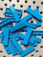 Lego Dark Azure Blue 1x4 Tiles Smooth Finishing Flat Modular Buildings 25 Pcs