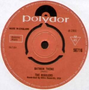 """RIDDLERS ~ BATMAN THEME / WEEGIE WALK ~ 1966 UK VINYL 7"""" SINGLE ~ POLYDOR 56716"""