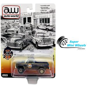 Auto World 1:64 - 1978 Chevy K10 Pickup 4x4 Gulf (Dirty)