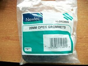 20 mm open rubber grommets