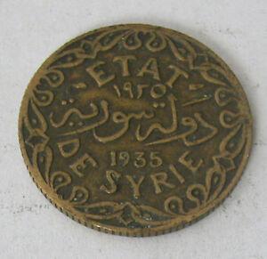 SYRIA - ALUMINUM-BRONZE 5 PIASTRE 1935 KM # 70