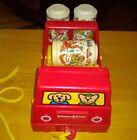 Vintage Johnson & Johnson Rhythm Roller Red Truck 3 Rattle Rollers Plastic 1982