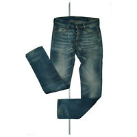 CARE LABEL Herren Jeans Hose MEN slim Destroyed W30 L34 hellblau used look NEU