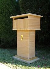 Sandstone Mailbox Solid build real sandstone mailbox 660mm tall real stone
