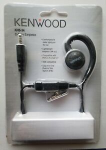 FACTORY SEALED KENWOOD C- RING EARPIECE KHS-34. PUSH TO TALK , MIC, VOX ,PROTALK