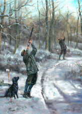 NEW Black Labrador Shooting Christmas Cards pack of 10 by John Trickett. C516X