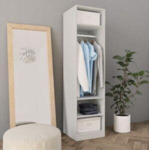 White Wardrobe 50x50x200 cm Chipboard Storage Single Large