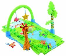 ASHLEY BABY RAIN FOREST PLAY GYM MAT WITH SOFT TOY