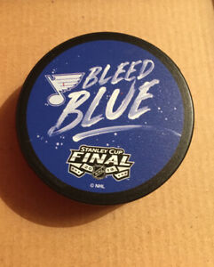 Stadium Exclusive 2019 ST LOUIS BLUES STANLEY CUP LimitedEdition Puck Bleed Blue