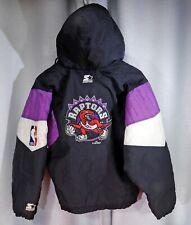 STARTER Anorak Jacket NBA TORONTO RAPTORS Basketball Hooded Vintage 1994 Youth M