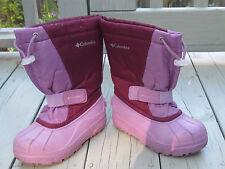 GIRLS SIZE 13 COLUMBIA PURPLE WINTER SNOW  Boots