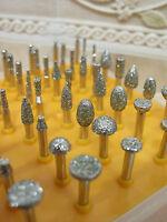 50 x Klein schleifer Schleifstift DIAMANT Diamantfräser FRÄSER für Dremel K 40