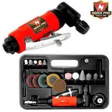 """Neiko Pro 1/4"""" Mini Right Angle Head Air Die Grinder W/ Accessory Kit and Case"""