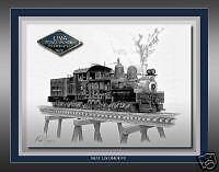 Shay  Locomotive Railroad Art Print