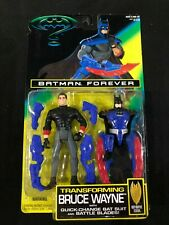 "Transforming Bruce Wayne Change Bat Suit Batman Forever Action Figure 3.75"" NIP"