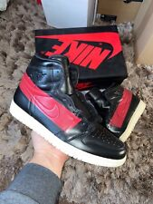 "Nike Air Jordan 1 High OG ""Defiant"" UK 12 EU 47.5 ""Black Gym Red-Muslin"" (BQ6682"
