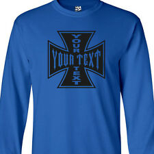 Custom Iron Cross LONG SLEEVE T-Shirt - Personalized Maltese - All Sizes Colors
