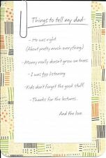 Happy Birthday Dad List Of Things To Tell My Dad Hallmark Greeting Card