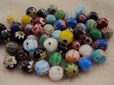 100 Millefiori cristal redonda granos Surtido De Colores 8 mm. tamaño (mm) 8