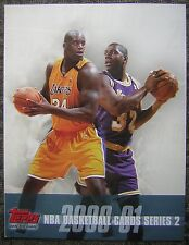 2000-01 Topps NBA Basketball Cards Series 2 Advertising Folder with Shaq & Magic