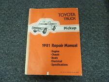 1981 Toyota Pickup Truck Shop Service Repair Manual SR5 Deluxe LB SB 2.4L 4WD