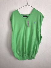 MENS RALPH LAUREN POLO GREEN SLEEVELESS TOP UK SIZE XL BNWT