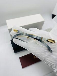Cartier Smooth Dirty Hybrid Buffalo Rimless Frame Glasses/ Frames Vintage
