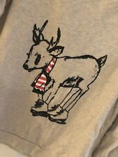 Next Off The Shoulder Marl Skating Deer Jumper Sweatshirt Size 16