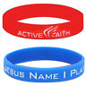 Religious Silicone Bracelet Bangle Wristband Rubber Jewelry In Jesus Name I Play