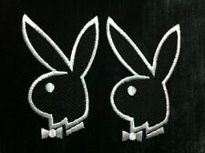 Lot 2 Pcs. Premium Playboy Logo Iron Patchs For T- Shirt Polo Jacket Bag Gab Hat