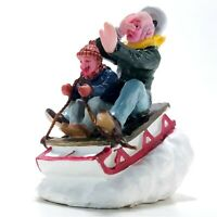 Lemax 2005 Sledding With Gramps Villages Collection #52084 Polyresin Figurine