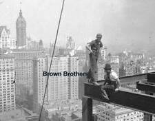 1911 Daredevil Construction Worker Atop NYC Woolworth Building Glass Negative #2