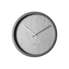 Degree Concrete Clock 30Cm Plastic In Grey