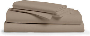"""Premium Collection Bed Sheet Set 550 TC Cotton* Twin/Queen/King 12"""" Deep Taupe"""